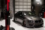 BMW M3 Matte Black Wide Body Render. by JAdesigns75