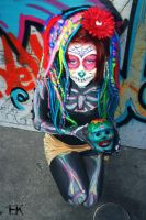 Sugar Skull Body Paint II by FrankensteinBabe