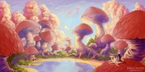 Mushroomscape by Sedeptra