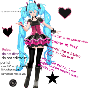 .:TDA out of the gravity Miku v1 download:. by Sushi-Kittie
