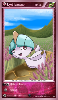 Pokemon Card: Ralts (Lydia) by WastedTimeEE
