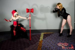 Black Canary vs Harley Quinn by iismoogle