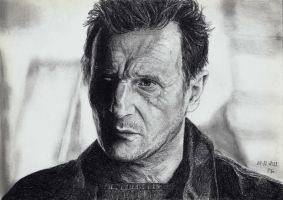 Liam Neeson by ISG-Art