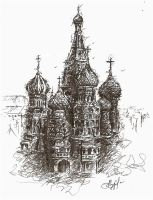 Saint Basil's Cathedral by Ginger-snuffkin