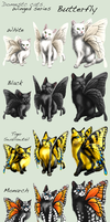 Adopt Cats -Winged series, Butterfly- by elen89