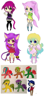 Homeless adopts - Price reduction by Piyos-Adoptables