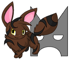 Tigerstar as an Eevee by 00GlaceonRoxz00