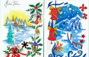 Xmas Cards Designs 2014 2 by lilie1111