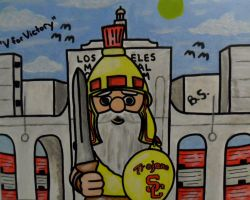 USC Gnome in front of LA Memorial Coliseum by sampson1721