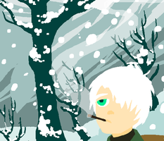 Ginko in the Snow by Homemade-Happiness