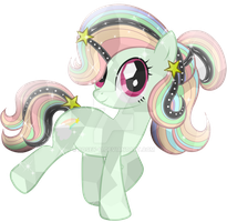 Comission-6 Wish Rainbow Crystal Pony by Posey-11