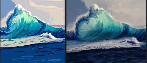 Waves: day 1 vs day 30 by XGingerWR