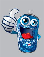 Pepsi Can Character by 16F