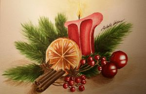 Christmas Candle by Michelle114