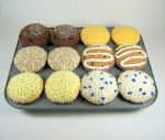 Crocheted Classic Muffins by Candypopcreations