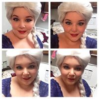 Elsa makeup test by Labyrinthinwyrm