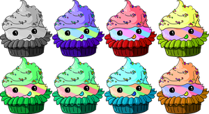 Adoptable Cupcakes by TheFlyinFerret