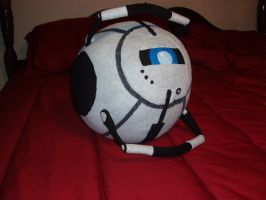 Portal 2 -Wheatley Plushie 1 by Distraction-Number-4