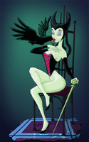 Malificent Pinup by hkor