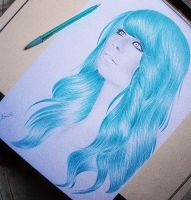 Blue hair by bruuninferreira