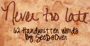 62 handwritten words by secdoover-resources