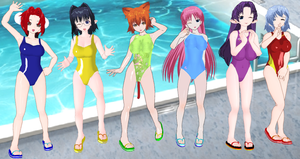 Jewel Matrix Swimsuits by quamp