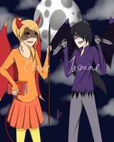 SNSNB Art Competition entry - Claire and Jasmine by Jyiscool