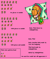 Baby Tikal Sprite Sheet by MidnightPrime