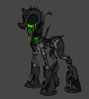 Megamare X - Scrap Changeling by Underpable