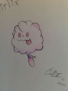 Swirlix-The Cotton Candy Pokemon by AltoClarinet5