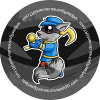 Sly Cooper Chibi Badge by RedPawDesigns