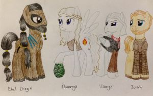 The Crew on Essos by Qemma