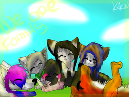 We are family by Kittenpaintcat