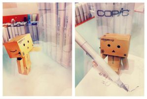 Danbo likes Copics by Khallandra