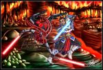50K Kiriban Prize - Darth Talon vs Jedi Donald by MariposaBullet