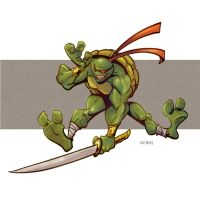 Ninja turtle by Kravenous