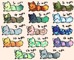 Leftover Kitty Adopts: 2-4 points OPEN by RubyAdopts
