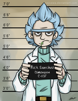 Rick and Morty - The Usual Suspect - Rick by caycowa