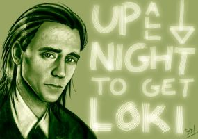 Loki Study by Of-Red-And-Blue