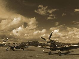 P51 Mustang and Spitfire by davepphotographer