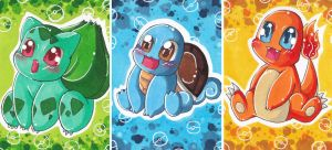 Bulbasaur Squirtle Charmander by LuckyAngelausMexx