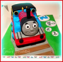 Thomas the Tank Engine Cake! by gertygetsgangster
