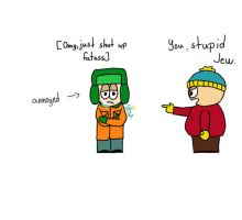 Cartman and Kyle arguing by aruNaoru