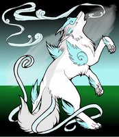 Wind Wolf by BloodStarWolf