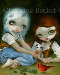 Snow White and Rose Red by jasminetoad