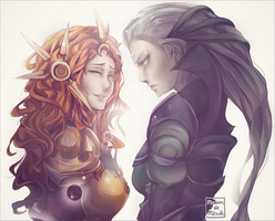 Leona and Diana by Maewen-Mitzuki