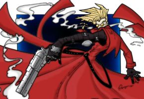 Vash The Stampede Colored: by MM-Dreamer