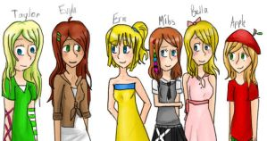 All my OCs together! by DrawingMojo