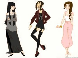 Atla- Modern!Azula, Mai, Ty Lee by whathefuckable