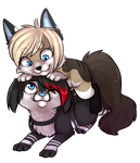 Friends +chibi-commission+ by ninetail-fox